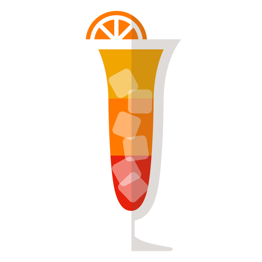 Sex on the beach cocktail icon Transparent PNG