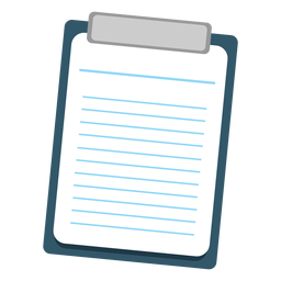 Sheet on clipboard icon