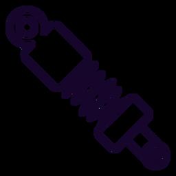 Icono de trazo de amortiguador
