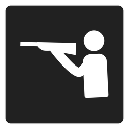 Schießsport-Quadrat-Symbol