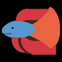 Ilustración de pez luchador siamés