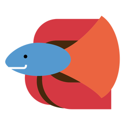 Siamese fighting fish illustration