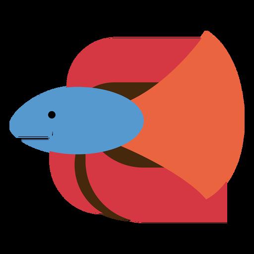 Ilustración de pez luchador siamés Transparent PNG