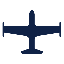 Simple airplane top view silhouette
