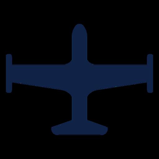 Silueta de vista superior de avión simple Transparent PNG