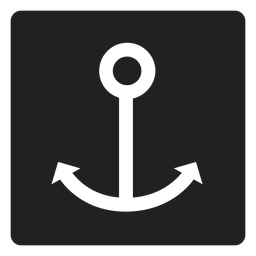Simple anchor square icon