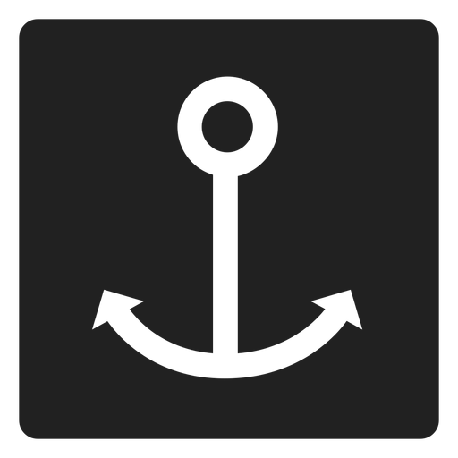 Simple anchor square icon Transparent PNG