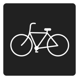Simple icono cuadrado de bicicleta