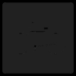 Simples bicicleta ícone quadrado