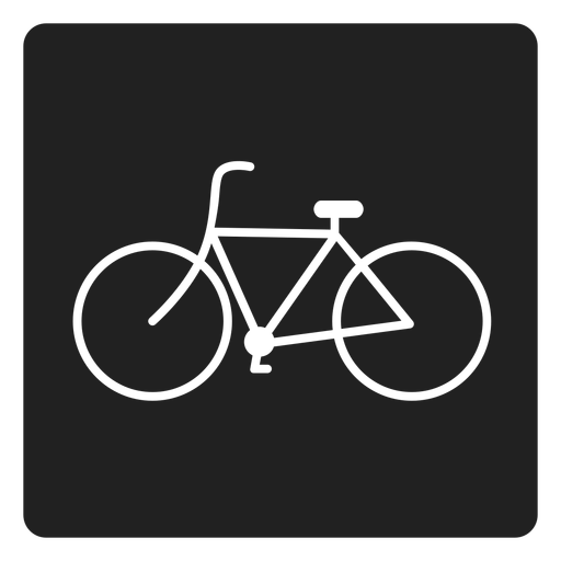 Simple bicycle square icon Transparent PNG