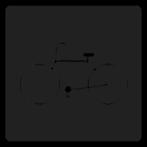 Simple icono cuadrado de bicicleta Transparent PNG