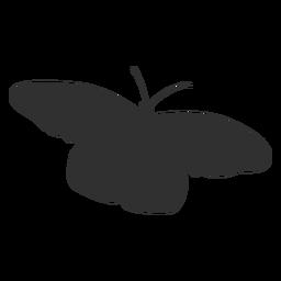 Silhueta de voar de borboleta simples