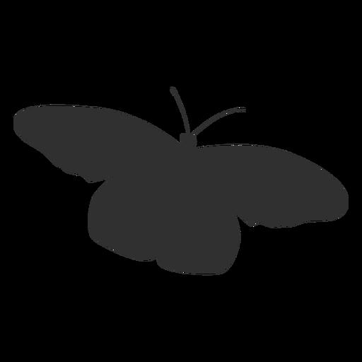 Silhueta de voar de borboleta simples Transparent PNG