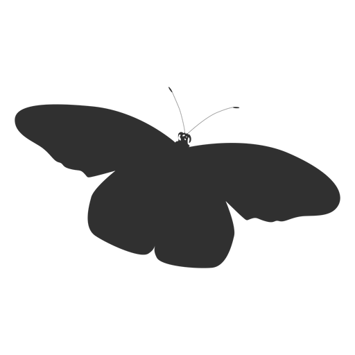 Simple butterfly flying silhouette Transparent PNG