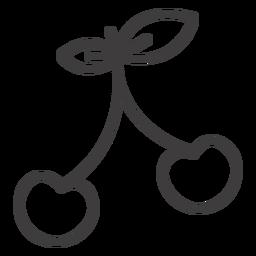 Ícone de traço cereja simples