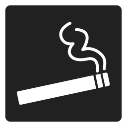 Icono cuadrado simple cigarrillo