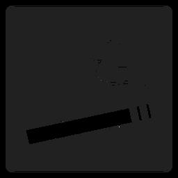 Simples ícone quadrado de cigarro