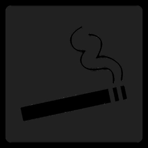 Icono de simple cigarrillo cuadrado Transparent PNG