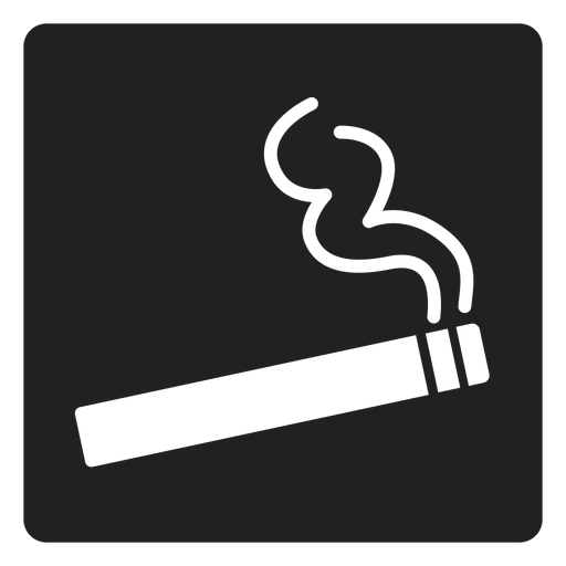 Simple cigarette square icon Transparent PNG