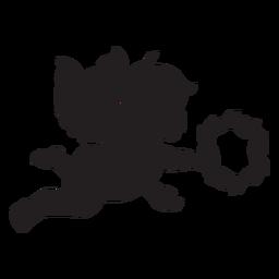 Silhueta simples cupido