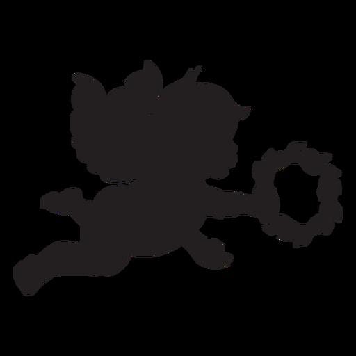 Silueta de cupido simple Transparent PNG