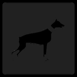 Icono de perro simple cuadrado