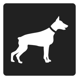 Simple dog square icon