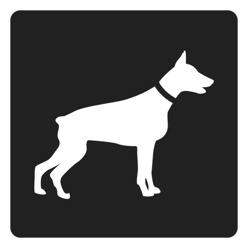 Simple dog square icon Transparent PNG