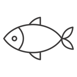 Ícone de traço de peixe simples