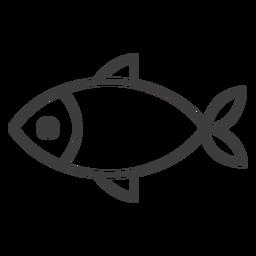 Simple icono de trazo de pescado