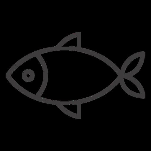 Icono de trazo de pescado simple