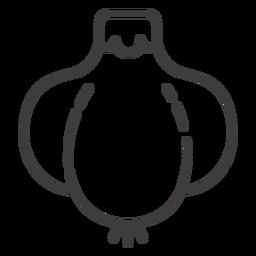 Ícone de traço de alho simples