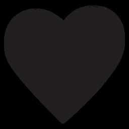 Silhueta de coração simples