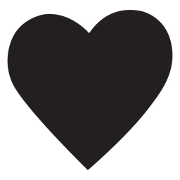 Silueta de corazón simple