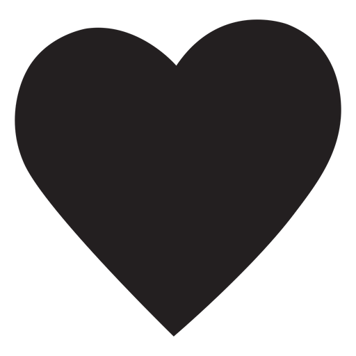 Silueta de corazón simple Transparent PNG