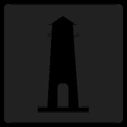 Icono cuadrado simple faro