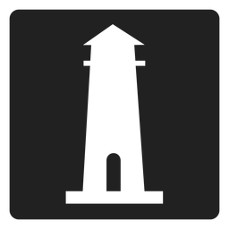 Simple lighthouse square icon