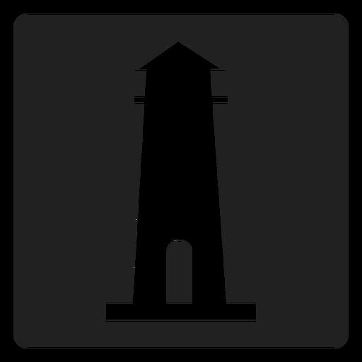 Ícone quadrado de farol simples Transparent PNG