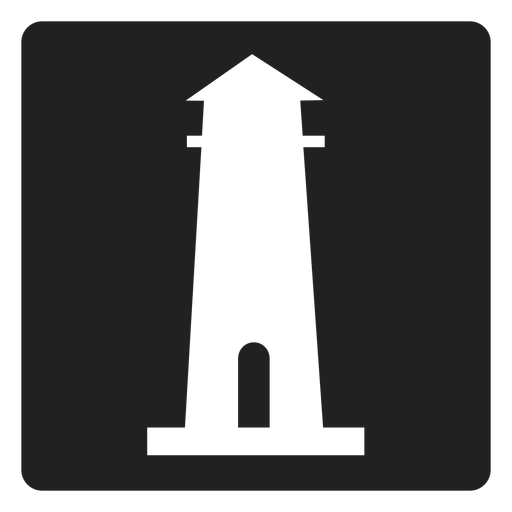Simples, quadrado, farol, ícone Transparent PNG