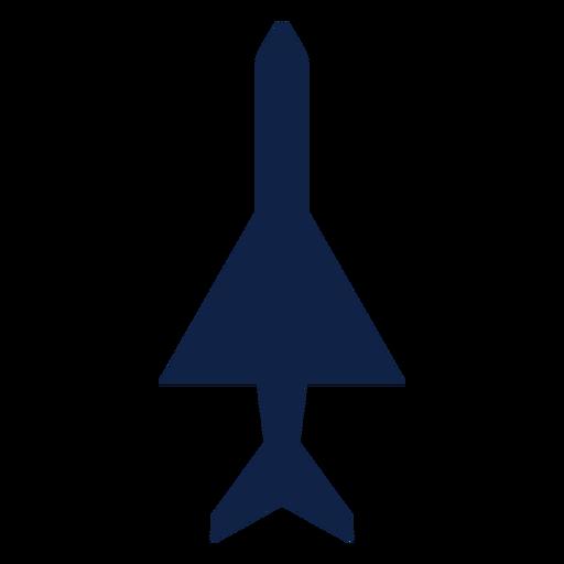 Silhueta de vista superior de avião simples Transparent PNG