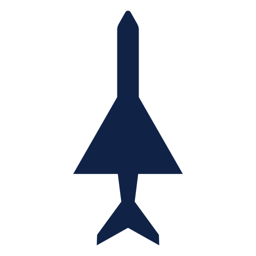 Simple plane top view silhouette Transparent PNG
