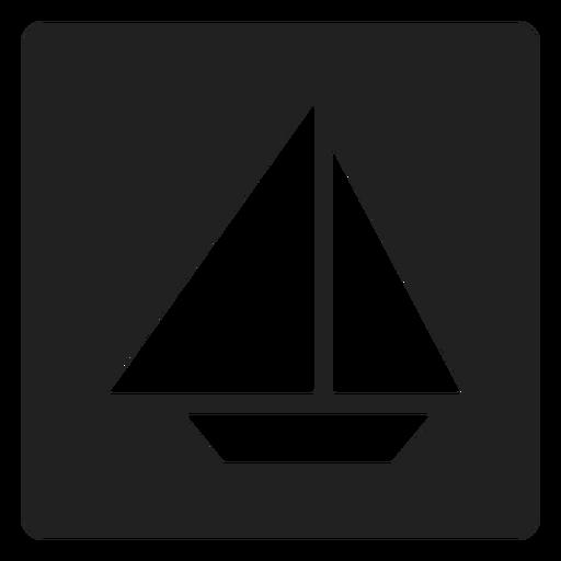 Simple icono de velero cuadrado. Transparent PNG