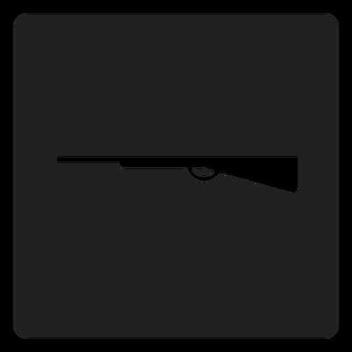 Simple shotgun square icon