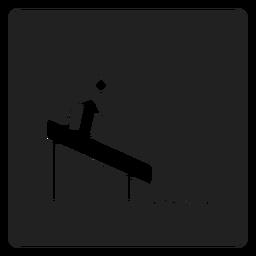Simples ícone quadrado deslizante