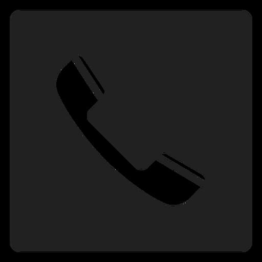 Icono cuadrado de tel?fono simple