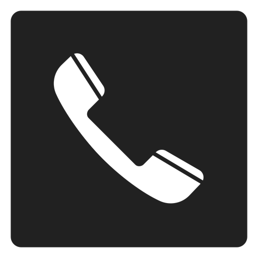 Simple telephone square icon Transparent PNG