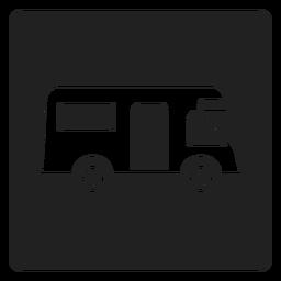 Ícone quadrado reboque simples