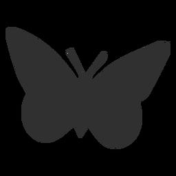 Silhueta de animais borboleta simplista
