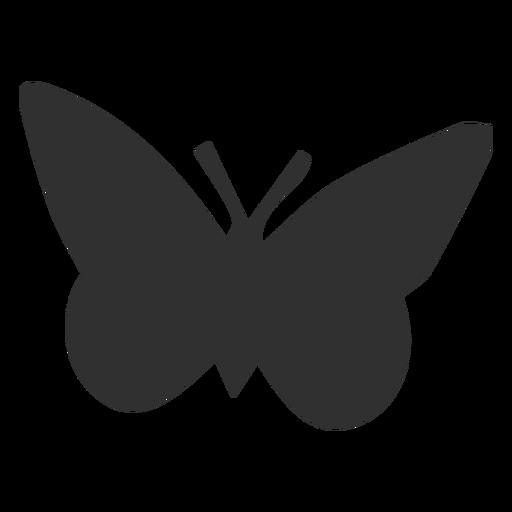 Silhueta de animais borboleta simplista Transparent PNG