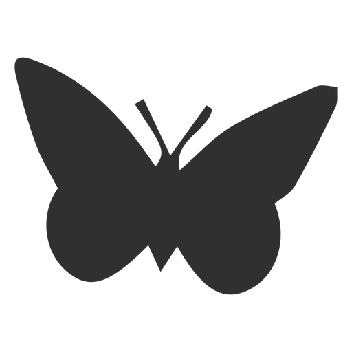 Simplistic butterfly animal silhouette Transparent PNG